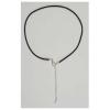Rubber Cord Black 2mm Silver Clasp